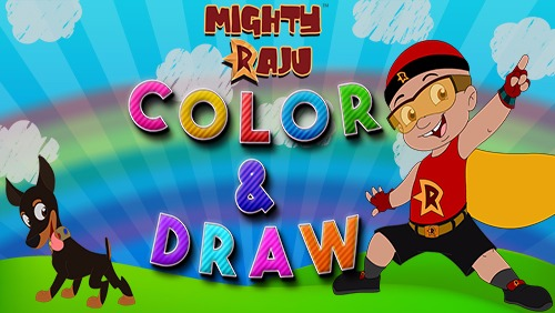Mighty Raju Color Draw Game