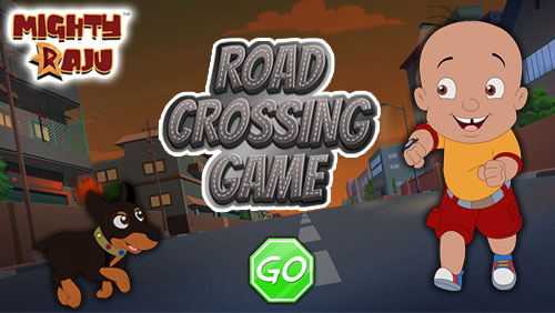 Mighty Raju Road Crossing Game