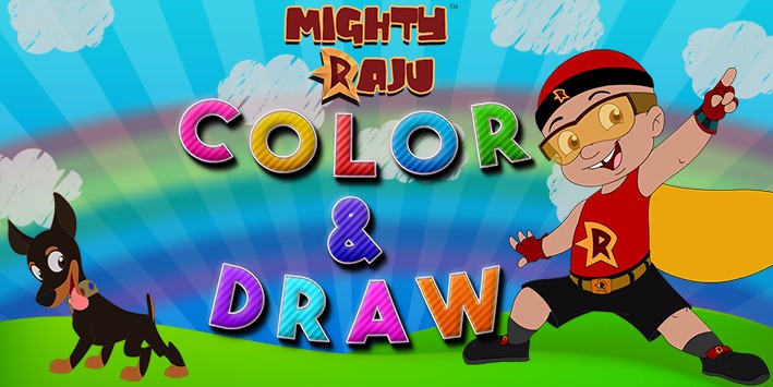 Mighty Raju Colouring Games For Kids Color Fill Play It Now At